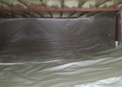 Guarding liner wrapped up the walls