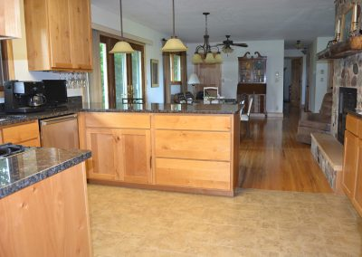 New cabinets, light fixtures, and countertops