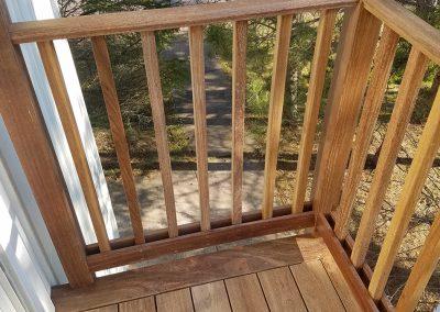 African Cameroon wood deck