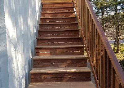 Steps made with Cameroon wood