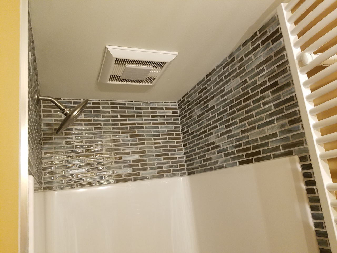 KV Tech Construction, Shower detail in new home construction, WI