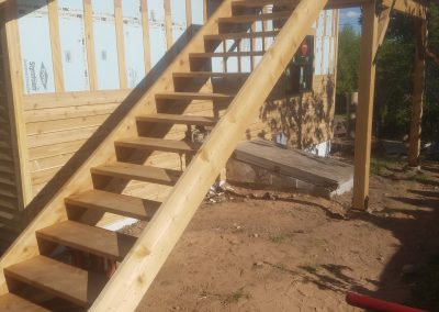 Steps and deck