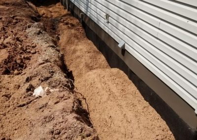 Backfilling around house