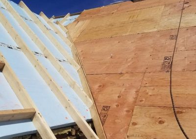 Exterior foam roof insulation