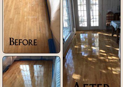 Floor refinish