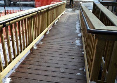 Handicap ramp off deck