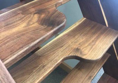 Jefferson stairs made with black-walnut wood