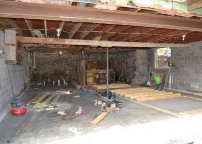 Working on basement finishing