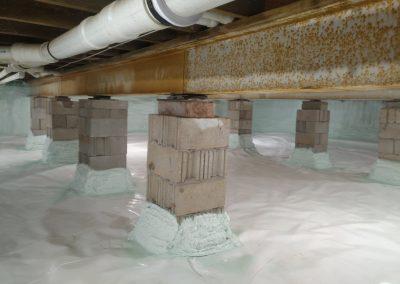 Sprayed center posts